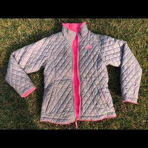 North face reversible cozy girls zip up sweater